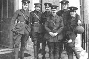 Group of officers, Warley