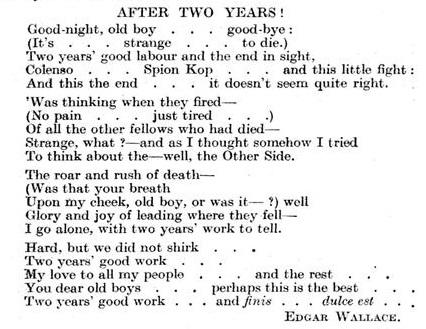 edgar wallace poem