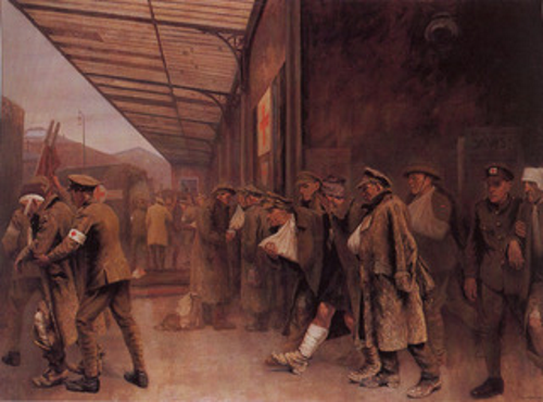wounded at station