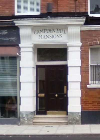 campden hill mansions door